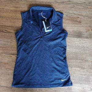 NWT Nike Sleeveless Golf Shirt Dri-Fit Sma…